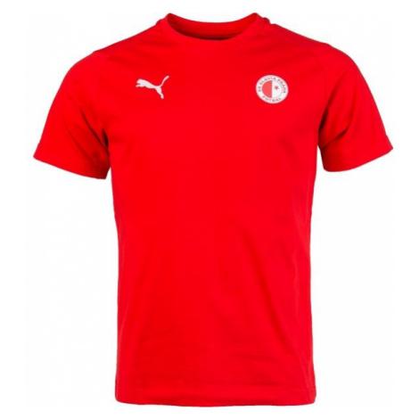 Puma LIGA CASUALS TEE SLAVIA červená - Pánské sportovní triko