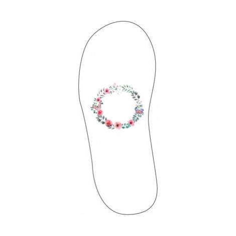 Sandály-žabky Květinový rámeček