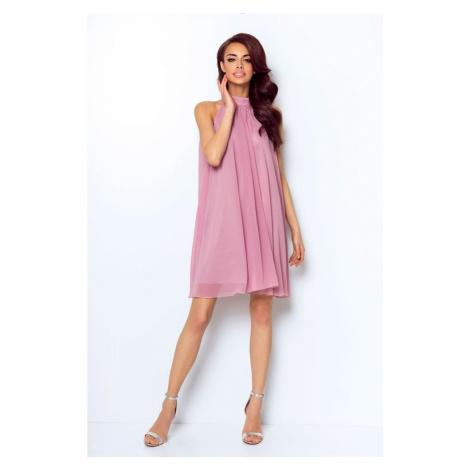 Dámské šifónové šaty v růžové barvě 216 IVON