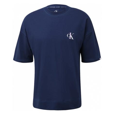 Calvin Klein Underwear Pyžamo krátké tmavě modrá / bílá
