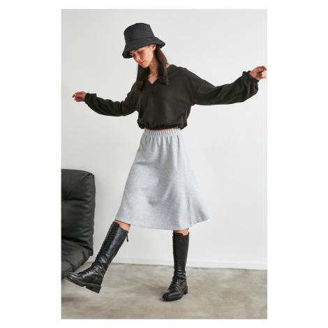 Trendyol Grey Knitted Skirt