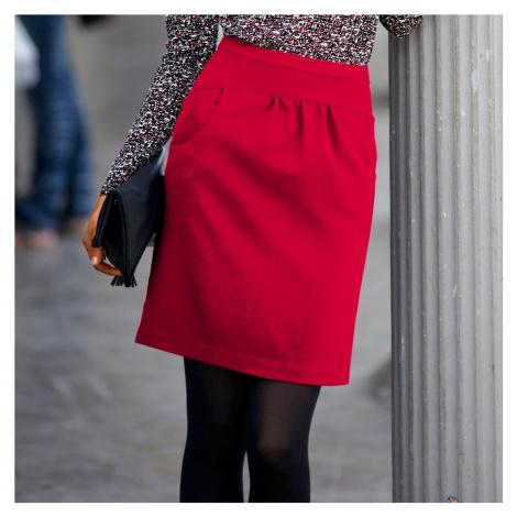 Sukně v tulipánovém střihu červená