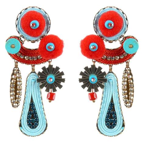 Tatami Woman's Clip Earrings E-Wo010T Turquoise