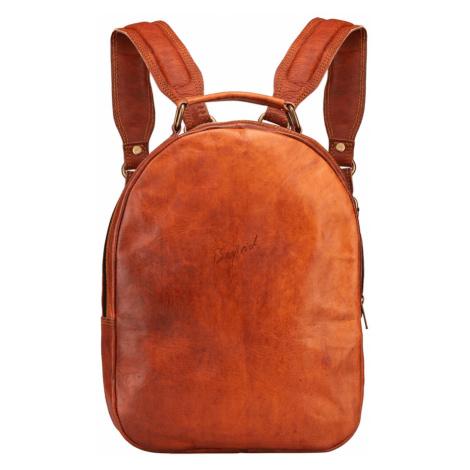 Bagind Maley - Dámský kožený batoh hnědý, ruční výroba, český design