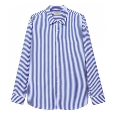 MANGO MAN Košile 'Nantes' bílá / marine modrá