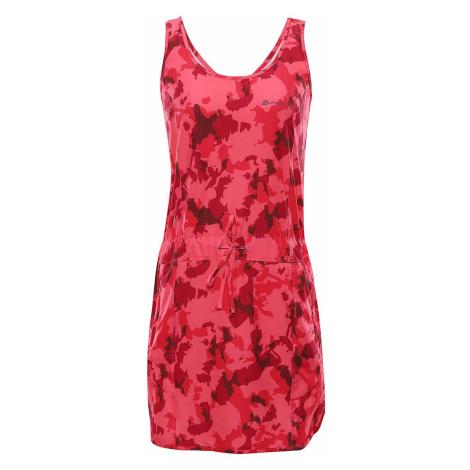Dámské šaty Alpine Pro PATA - růžovo-červená