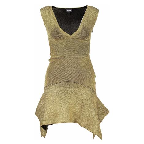 JUST CAVALLI krátké Šaty Barva: Zlatá