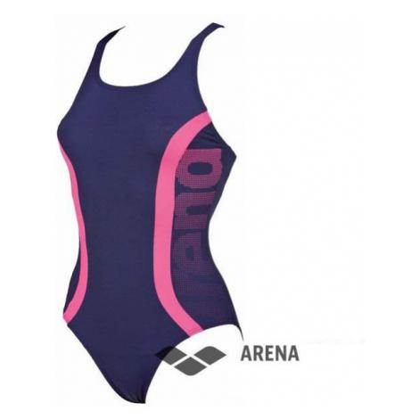 Arena ArenaW Clog one piece modrá dámské plavky Barva: tmavě modrá