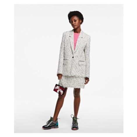 Sako Karl Lagerfeld Long Boucle Jacket - Bílá