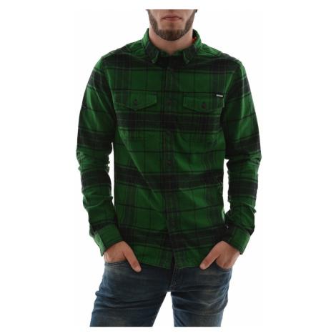 Zelená kostkovaná košile Superdry