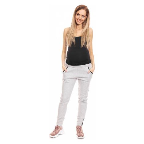 Světle šedé těhotenské kalhoty 0133 PeeKaBoo