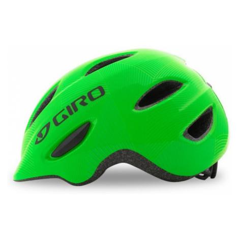 Dětská cyklistická helma Giro Scamp Green/Lime Lines