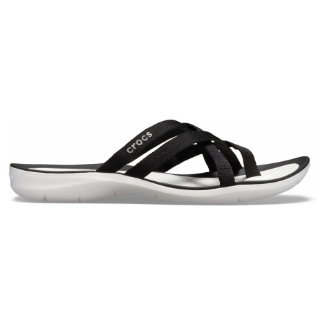 Crocs Swiftwater Webbing Flip W Black/White W5