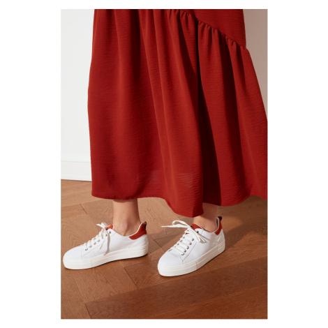 Trendyol Women's Sneaker WITH Orange Suede Detail