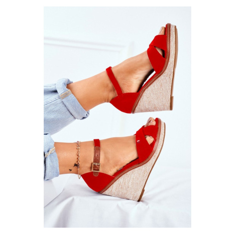 Women's Sandals On Wedge Red LaMane Kesi