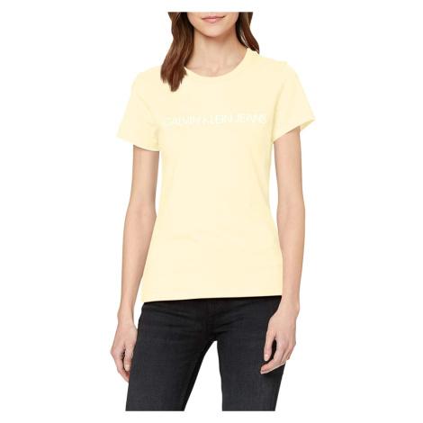 Calvin Klein dámské světle žluté tričko Logo