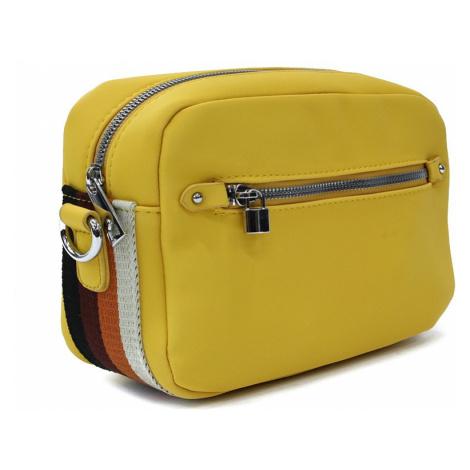 Žlutá obdélníková zipová dámská crosbody kabelka Gislyne Mahel