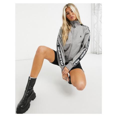 Polo Ralph Lauren taped sweatshirt co ord in grey