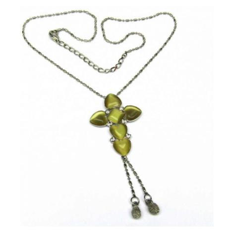 AutorskeSperky.com - Stříbrný náhrdelník s avanturínem - S4603
