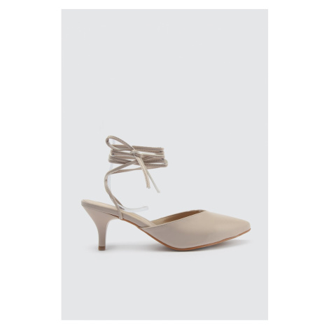 Trendyol Women's Classic Heels with Beige Ankle Straps