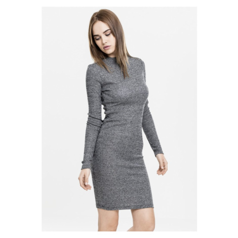 Ladies Rib Dress - charcoal Urban Classics