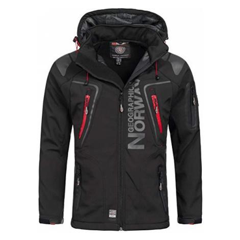 Luxusní značková pánská softshellová bunda GEOGRAPHICAL NORWAY s odepínatelnou kapucí. Barva: Če
