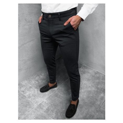 Elegantní pánské chinos kalhoty černé DJ/5526