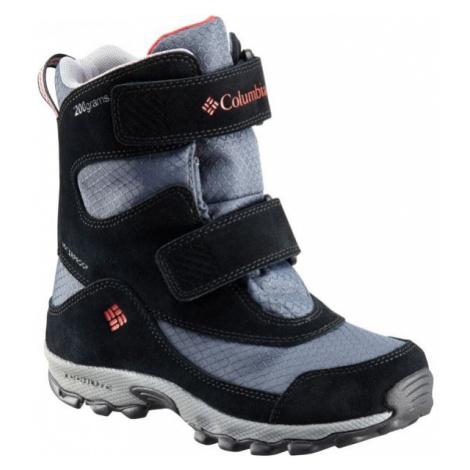 Columbia YOUTH PARKERS PEAK VELCRO BOOT šedá - Dětská zimní obuv
