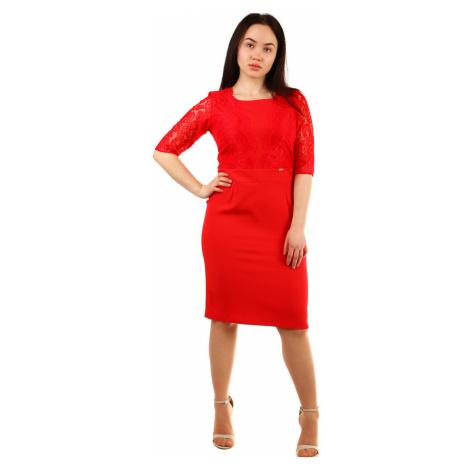 Společenské dámské šaty s krajkou i