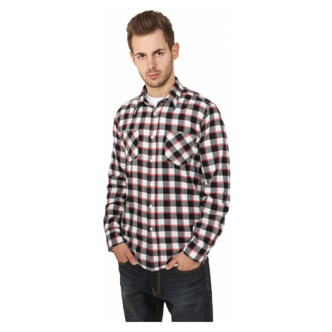 Tricolor Checked Light Flanell Shirt - black/white/red Urban Classics