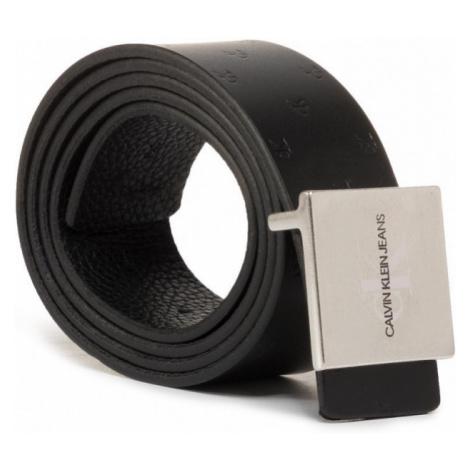 Calvin Klein Calvin Klein pánský černý opasek Signature Buckl Belt