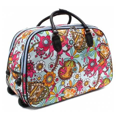 Barevná velká cestovní taška se vzorem Madoline Mahel