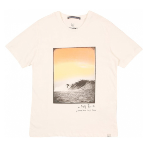 Jack & Jones Junior Tričko 'JORTAHOE TEE SS CREW NECK JR' bílá / antracitová / žlutá / oranžová