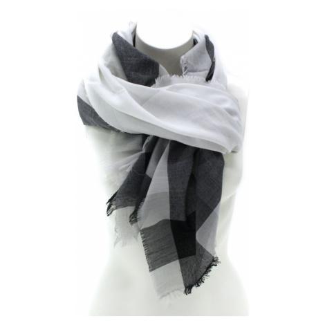 Černobílý dámský šátek s pruhem Calanthe Jordan (PL)