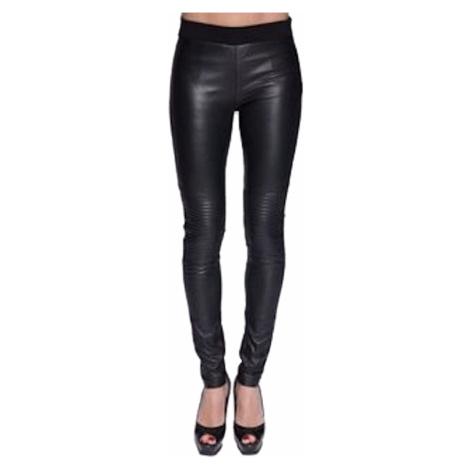 Černé kožené kalhoty - SERGE MIKO