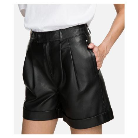 Šortky Karl Lagerfeld Leather Shorts - Černá