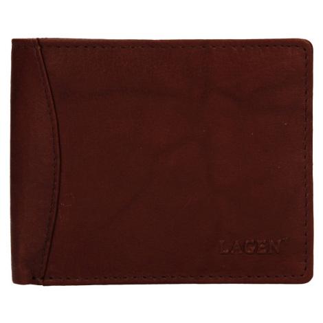 Pánská kožená peněženka Lagen Felixe - hnědá