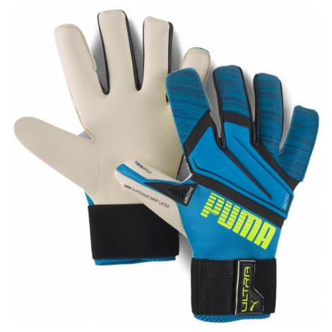 Brankářské rukavice Puma ULTRA Grip 1 Hybrid Pro Modrá / Bílá