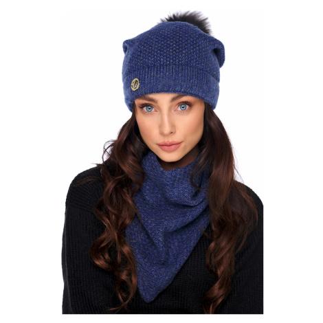 Tmavě modrý set čepice + šál LC132 Lemoniade