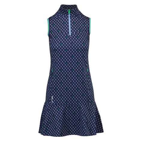 Šaty RLX Ralph Lauren SL PRNTDRESS vzorkování|tmavomodrá
