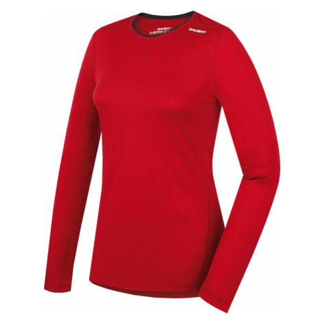 Dámské funkční triko HUSKY Merino 100 L dlouhý rukáv červená