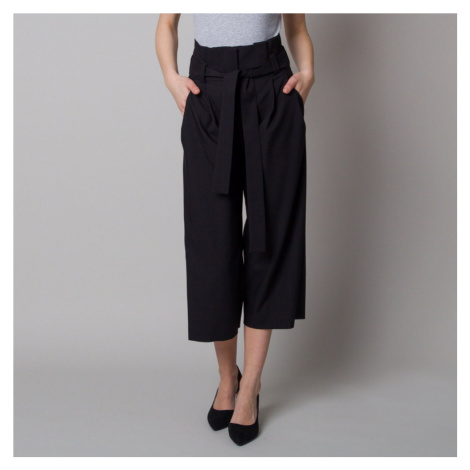 Dámské látkové kalhoty culottes černé 12616 Willsoor