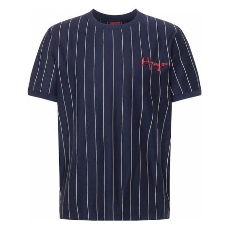 HUGO Tričko 'Damericano' tmavě modrá / bílá / černá / červená Hugo Boss