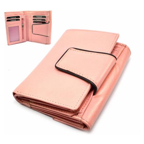 Dámská peněženka růžová velká Cavaldi