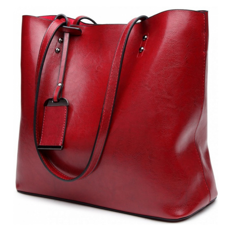 Tmavě červená dámská přehledná kabelka Braslen Lulu Bags