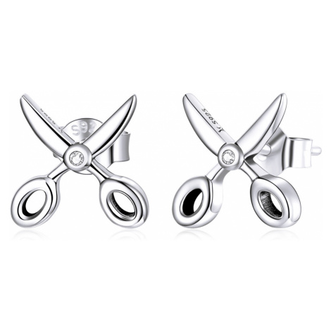 Linda's Jewelry Stříbrné náušnice Nůžky Ag 925/1000 IN233