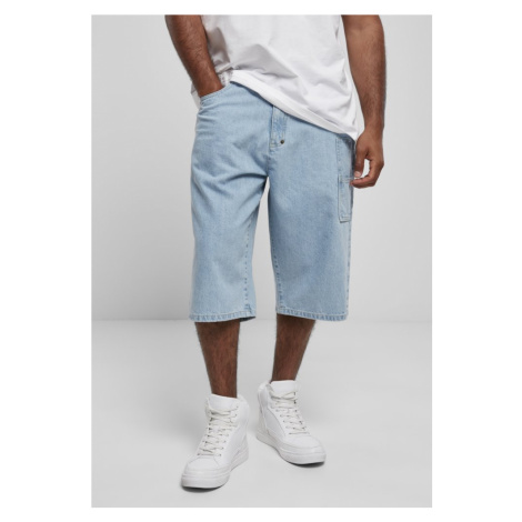 Southpole Denim Shorts with Tape - mid blue