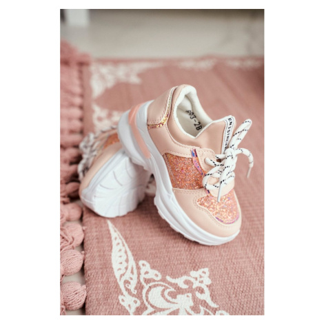 Sport Children's Shoes With Brocade Pink Matylda