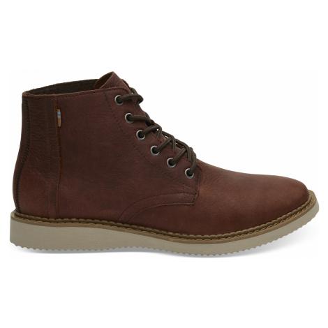 Dark Brown Leather WR Porter Men Boot Toms