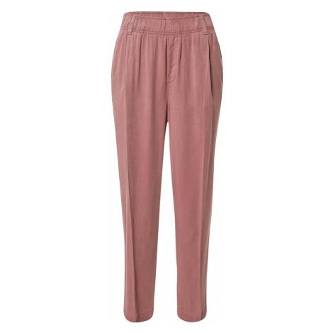 GAP Kalhoty se sklady v pase růžová